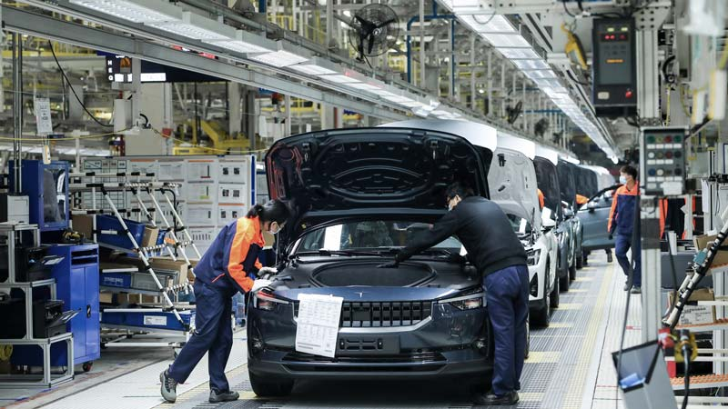 Polestar 2 production begins in Luqiao, China. Source: Polestar